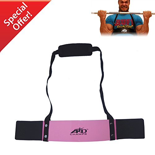 ARD-Champs Heavy Duty Arm Blaster Body Building Bomber Bicep Curl Triceps Pink New