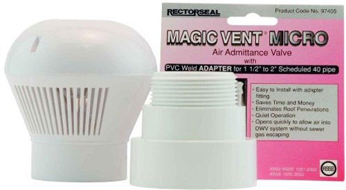 Rectorseal 97405 Magic Vent Micro with Pvc Adapter