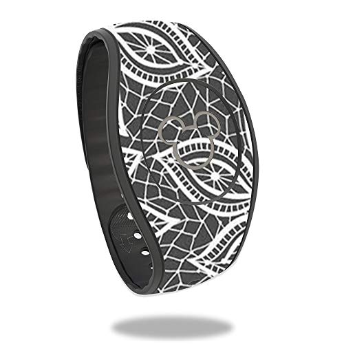 - MightySkins Skin Compatible with Disney MagicBand 2 - Floral Lace | Protective, Durable, and Unique Vinyl Decal wrap Cover | Easy to Apply, Remove, and Change Styles | Made in The USA