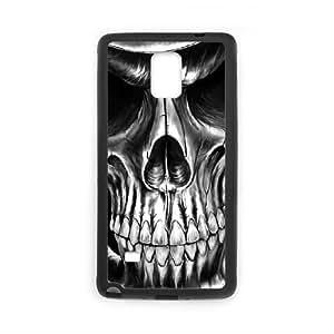 JFLIFE Artistic Skull Phone Case for samsung galaxy note4 Black Shell Phone [Pattern-1] WANGJING JINDA