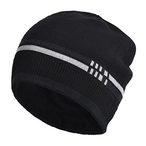 Janey&Rubbins Sports Winter Soft Knit Beanie Hat Warm Fleece Lined Skull Ski Cuff Stocking Cap - Ski N Sun