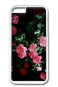 iPhone 6 Case, Custom Design Covers for iPhone 6 PC Transparent Case - Pink Roses by lolosakes