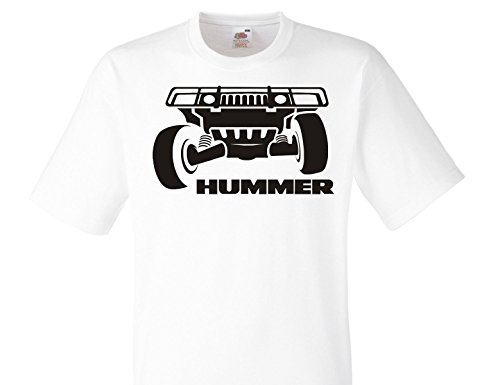 Hummer Jeep Fun weiße T-Shirt -578