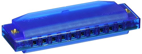 Clearly Colorful Translucent Harmonica, Blue -