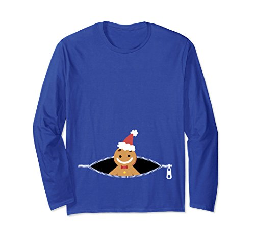 Unisex Funny Expecting Family Pregnancy Baby Gingerbread Xmas Gifts Medium Royal Blue Picture
