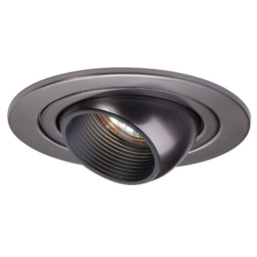 Halo Recessed 1498TBZ 4-Inch Trim with Eyeball, Black Baffle, Tuscan Bronze