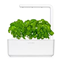 Click & Grow Smart Garden 3 | Indoor Fresh Herb Growing Kit With 3 Basil Cartridges | Self Watering Planter & Patented Nano-Tech Growth Medium | Soil Full Of Nutrients, Proper Aeration, pH & Moisture