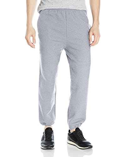 Gildan Men's Fleece Elastic Bottom Pocketed Pant, Sport Grey, Medium ()