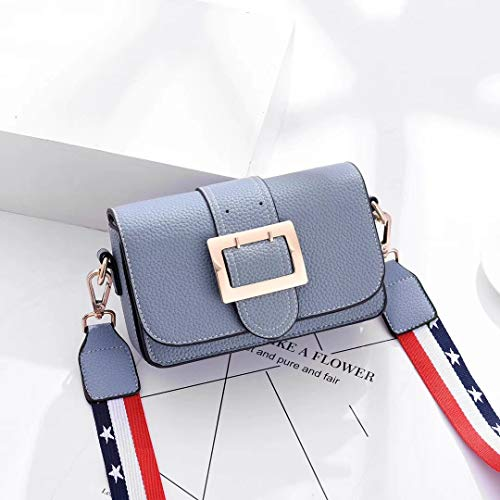 Trend Lady Croix WENLONG Unique Pente Bleu personnalité à Sac bandoulière Pente de la OP6wvq