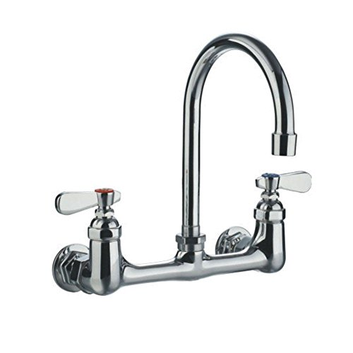 Whitehaus WHFS9814-P4-C  1 2-Handle Laundry Faucet, Polished Chrome by Whitehaus Collection