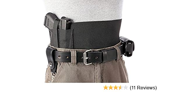 2c27d9705a267b Amazon.com : Daltech Force Safestcarry Belly Band 6 Inch Holster - CCW  Concealed Carry Large Gun Holster and Mag Holster for Hips, Waist or Chest,  Black ...