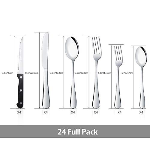 Teivio 24 Piece Silverware Set