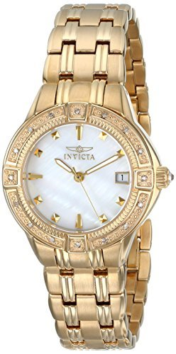 Invicta Women's 0268 II Collection Diamond Accented 18k Gold-Plated Watch ()