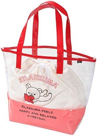 Rilakkuma リラックマ 女児用PVCビーチバッグ スイムバッグ プールバッグ トートバッグ レッド 9652
