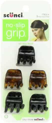 Scunci No-slip Grip Chunky Jaw Clips,5 Count