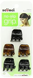 Scunci No-slip Grip Chunky Jaw Clips, 5 Count