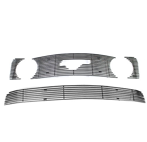 ZMAUTOPARTS Upper + Bumper Billet Grille Grill Insert Combo For 2005-2009 Ford Mustang GT -