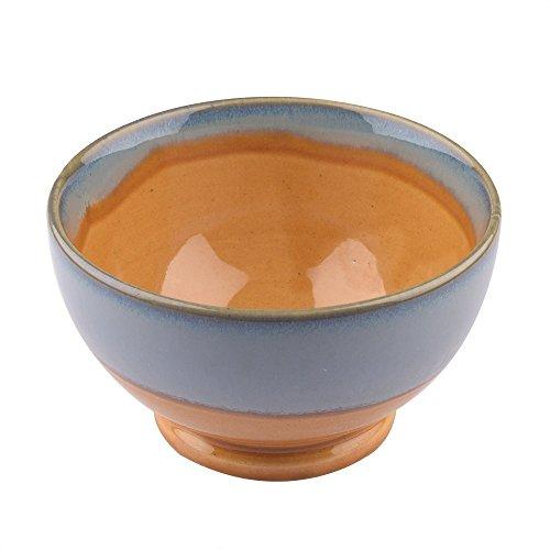 Store Indya Handmade Ceramic Bowl Dessert Salad Fruit Porcelain Pottery Serving Bowl Kitchen Dining Serve ware Accessory (Blue & (Blue Fruit Dessert Bowl)