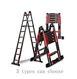 Aluminum Telescopic Extension Ladder Capacity A-Frame 16 ft/20ft/25ft Telescoping Ladder Multi-Purpose Attic staircase