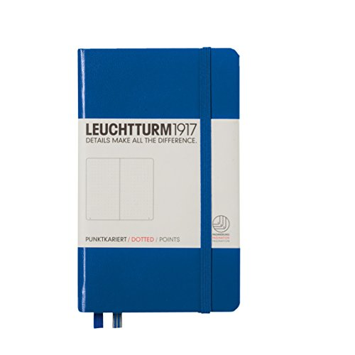 Leuchtturm1917 A6 Pocket Dotted Notebook- Royal Blue, 185 numbered pages