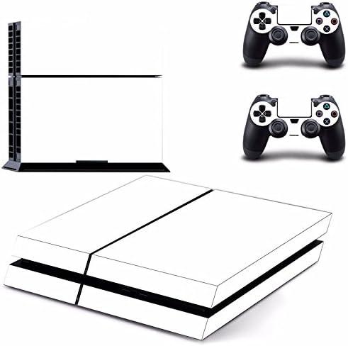 GOZAR Etiqueta De Piel Blanca para Ps4 Play Estación 4 Consola 2 Controlador De La Piel del Protector: Amazon.es: Hogar
