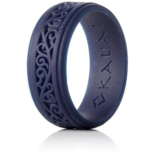 KAUAI - Silicone Wedding Rings Elegance Timeless Collection. Leading Brand, from The Latest Artist Design Innovations to Leading Edge Comfort (Indigo Rise of The Empire, 10)