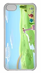 Customized iphone 5C PC Transparent Case - Visitors From The Sky Personalized Cover
