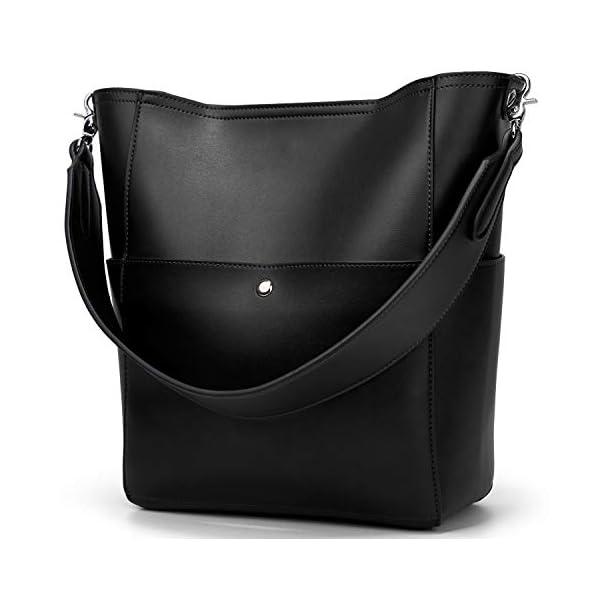 Molodo Women's Satchel Hobo Top Handle Tote Shoulder Purse Soft Leather Crossbody Designer Handbag Big Capacity Bucket…