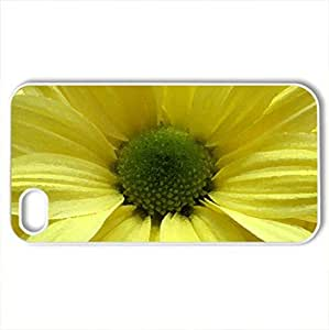 Sunbright Petals - Case Cover for iPhone 4 and 4s (Flowers Series, Watercolor style, White)