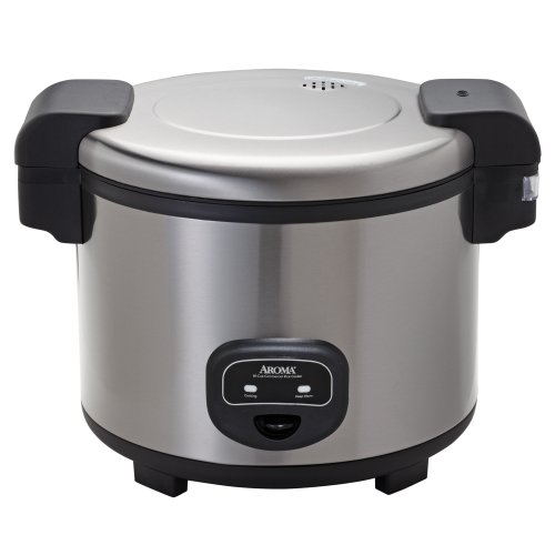 Aroma Housewares 60-Cup (Cooked)  (30-Cup UNCOOKED) Commercial Rice Cooker, Stainless Steel Exterior (ARC-1130S) ()