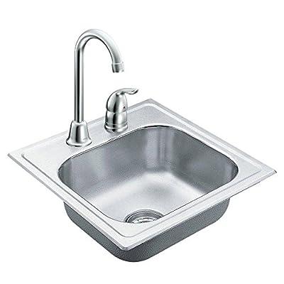 Moen TG2045622 2000 Series Single Bowl Drop-In Sink, 20-Gauge, Stainless Steel