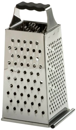 Norpro 343 Grip-EZ Stainless Steel Grater with Catcher, Silver ()