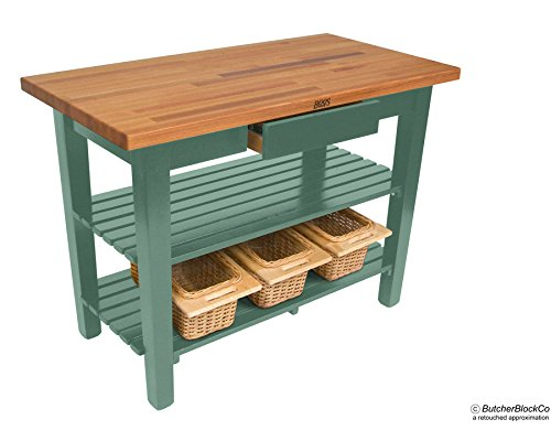 John Boos OC Oak Country Table - Blended Butcher Block Top, 36''W x 25''D - No Shelf, French Roast Base by John Boos (Image #2)
