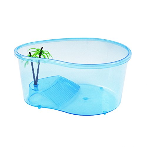 Turtle tanks Small OMEM Only Suitable for Small Turtle,Newborn Small Turtles, Tortoise Tank Reptile Habitat Turtle ,Aquariums Small,for Tortoise, Crab, other Small Aquatic Animals (Fish Tank Starter Kit 50 Gallon compare prices)