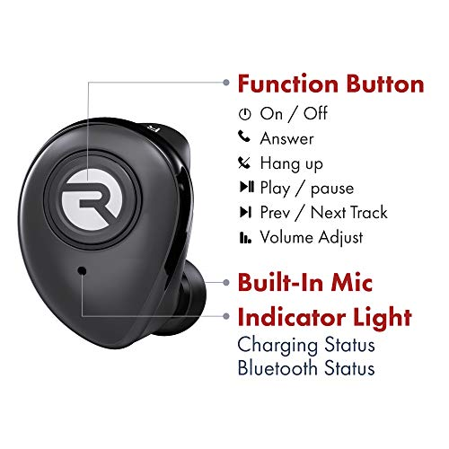 Reviews Summary Pros Cons Raycon E50 Wireless Earbuds Bluetooth Headphones Bluetooth 5 0 Bluetooth Earbuds Bluetooth Headset True Wireless Earbuds 30 Hours Playtime With Charging Case Built In Mic Black