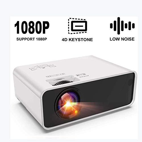 Ai LIFE Beamer Mini-Projektor Viel Spaß mit dem tragbaren Projektor mit ± 45 ° digitaler 4D Trapezkorrektur Geringere…