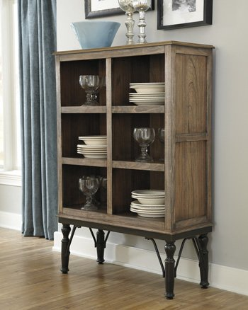 Ashley Furniture Signature Design - Tripton Dining Room Server - 6 Storage Cubbies - Vintage Casual - Medium Brown by Signature Design by Ashley
