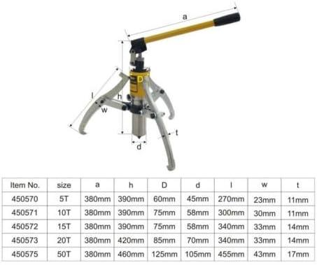 KATSU Kit de extractor de engranaje de 3 mordazas hidr/áulico de unidad integral Separador de extractor de mand/íbula 5T