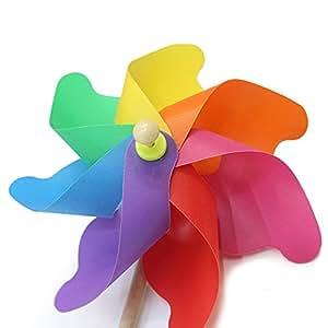 Wispun - Molinillo de viento para jardín, fiestas, decoración para la casa 24cm