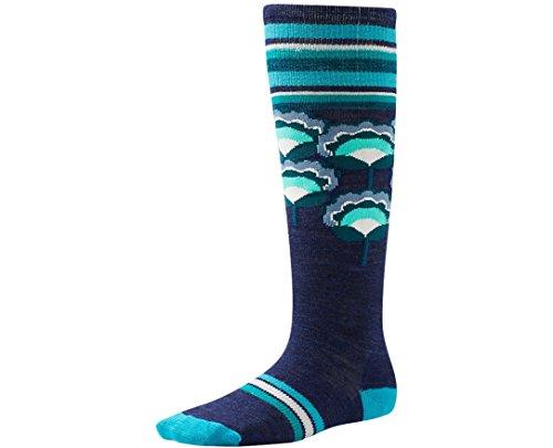 SmartWool Girls' Peony Pop Kneehigh Socks (Ink Heather) - Knee Socks Smartwool