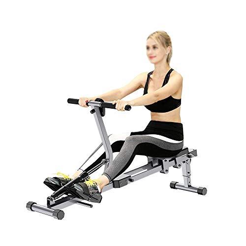 ZJZ Opvouwbare Roeimachines Roeimachine Verstelbare Home Roeimachine, Mannelijke en Vrouwelijke Gewichtsverlies…