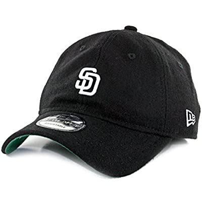 "New Era 920 ""Melton"" San Diego Padres Dad Hat Strapback (Black) Wool Polo Cap"