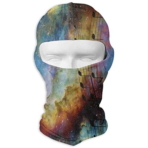 YIXKC Balaclava Music Note Galaxy Nebula Unique Windproof Ski Mask for Men Skiing for $<!--$14.33-->