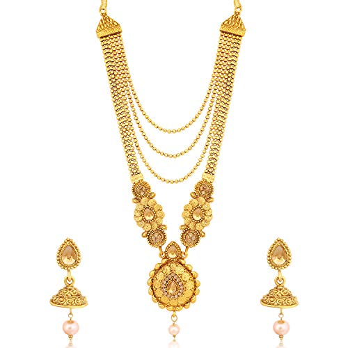 Sukkhi Traditional LCT Gold Plated Wedding Jewellery Long Haram Necklace Set for women (N79602)