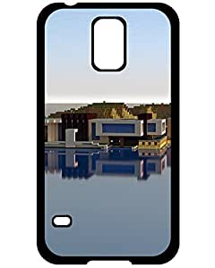 phone case Galaxy's Shop Christmas Gifts Samsung Galaxy S5 Case Minecraft Modern House - Day Theme [Scratch Resistant] Uncommon Hard Phone Accessories 9664943ZA835419661S5