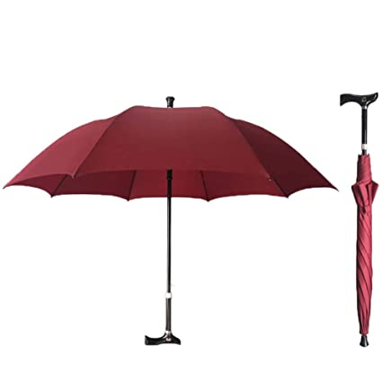 3d56b001d256 Amazon.com: AXDNH Walking Stick Umbrella, Old Man Non-Slip Walking ...