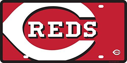 - Stockdale Cincinnati Reds Mega Logo Design Premium Laser Cut Tag Acrylic Inlaid License Plate Baseball