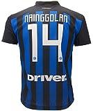 Camiseta de Fútbol RADJA NAINGGOLAN 14 F.C. Inter Home Temporada 2018-2019 Replica Oficial con Licencia - Todos Los Tamaños NIÑO y Adulto