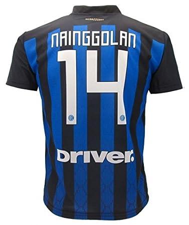 Camiseta de Fútbol RADJA NAINGGOLAN 14 F.C. Inter Home Temporada 2018-2019 Replica Oficial con Licencia - Todos Los Tamaños NIÑO y Adulto: Amazon.es: ...