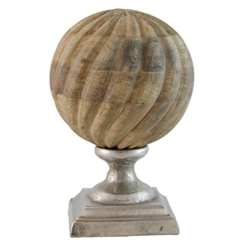 Selectives Timba Wood Decorative Finial, 10-Inch by Selectives (Image #1)